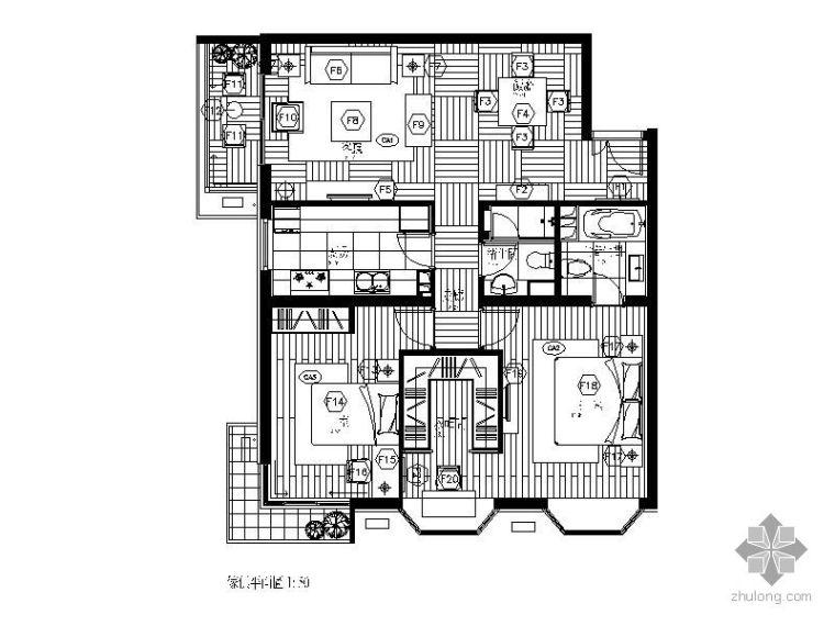 86㎡二室二厅装修图