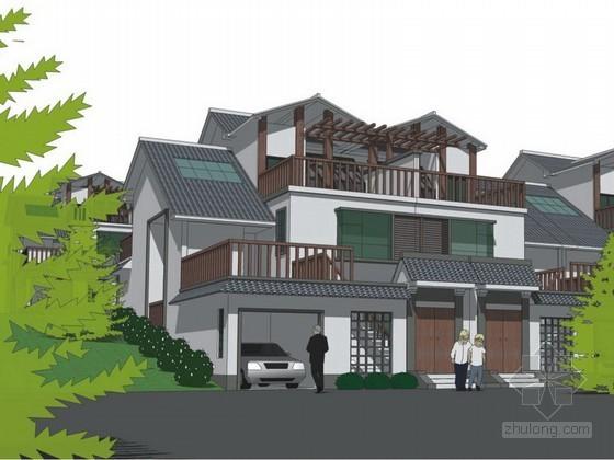 [广东]某新农村建设两层半住宅建筑方案文本(含造价估算)