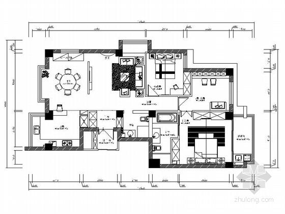 [广东]花园洋房温馨现代三居室样板间装修图(含效果)