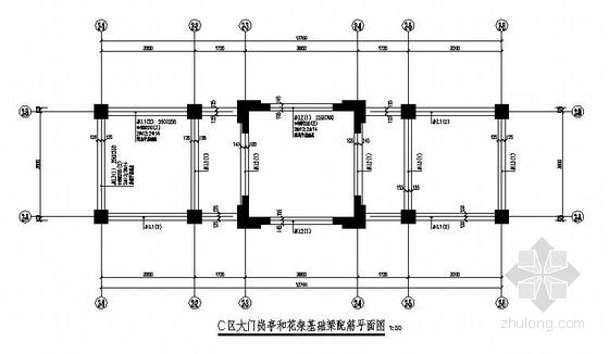 广东某区景观设计结构施工图(景亭、景桥、廊架)