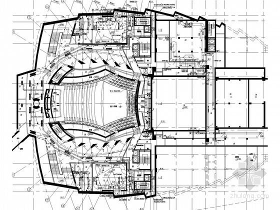[浙江]大型剧院暖通空调设计施工图纸(著名设计院 座椅送风系统)