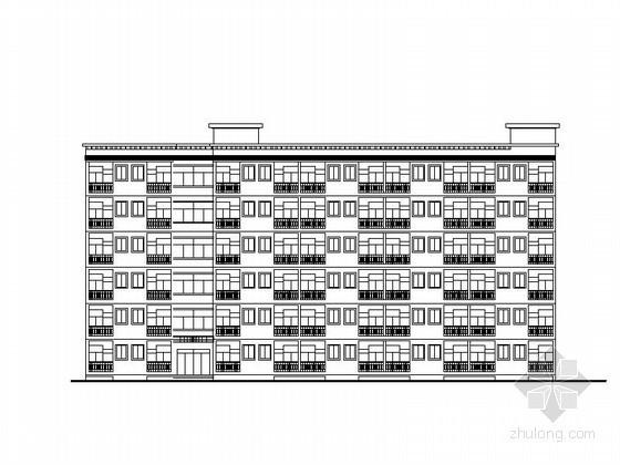 [云南]某中学六层学生宿舍建筑方案图