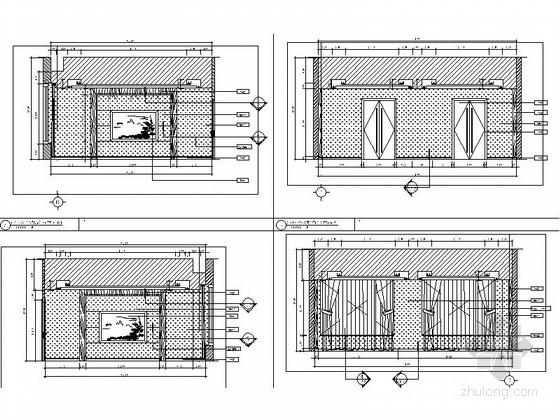 [北京]石油化工有限公司现代会议中心室内装修施工图接待室立面图