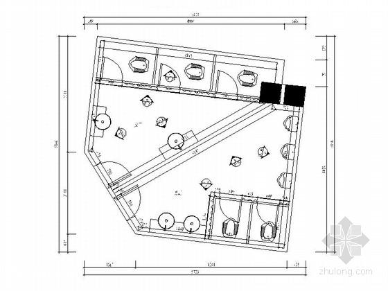 [厦门]现代高档量贩式KTV公卫室内装修施工图