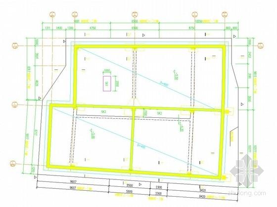[福建]浅基坑放坡喷锚加木桩或槽钢组合支护施工图