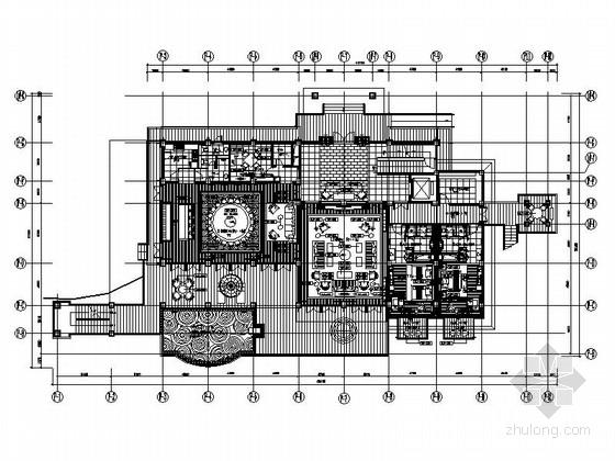 [云南]低调奢华书香气息别墅室内施工图(含效果图)