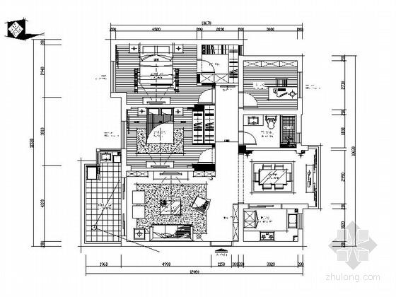[嘉兴]时尚优质两居室装修图(含效果图)