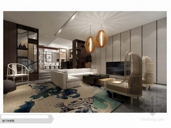 [江苏]现代中式三层别墅设计方案图