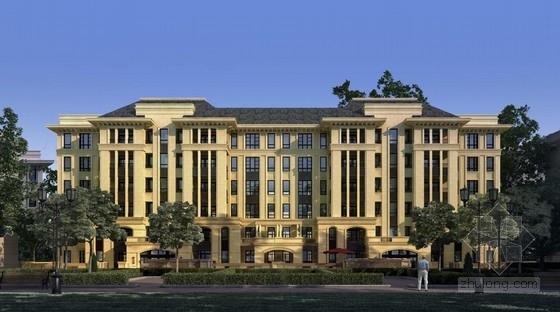 [南京]大挑檐坡屋顶花园式洋房住宅建筑设计方案文本