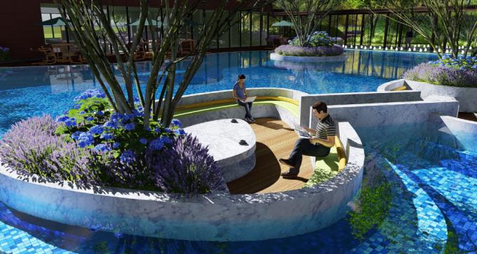 [湖北]现代自然生态亲水居所精致住宅景观设计方案(2017最新)