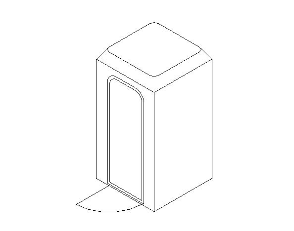 bim软件应用-族文件-移动厕所