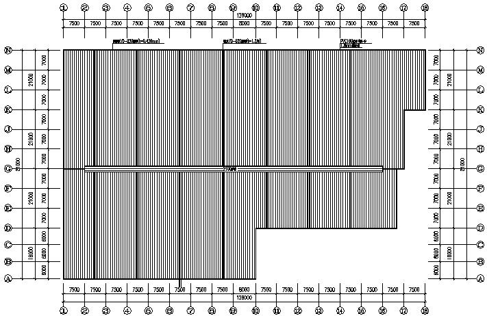 华辉公司单层单山单跨门式刚架厂房工程(CAD,12张)