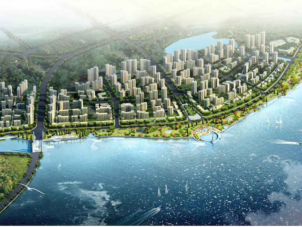 关键词: 滨水休闲景观公共空间景观带城市绿地景观设计图片