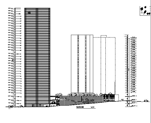 [广东]商务中心区(城市综合体)地下车库楼建筑方案cad图