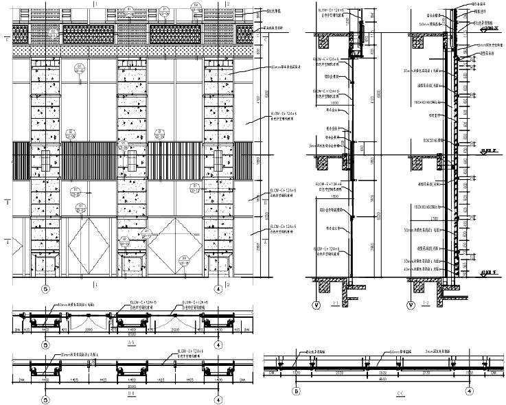 金融贸易中心幕墙工程施工图(2014)-塔楼幕墙大样图