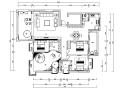 现代简约风三居室住宅设计施工图(附效果图)