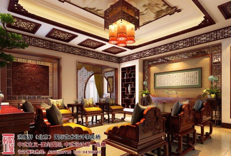 唐山别墅中式设计效果图,高贵多古雅之风_3