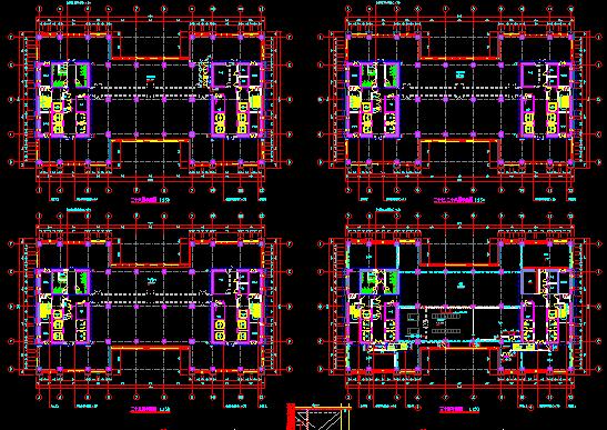 华东设计院--某知名大型金融中心归档建筑施工古风室内设计平面图图片