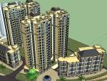 法式风格住宅建筑设计SU精模型