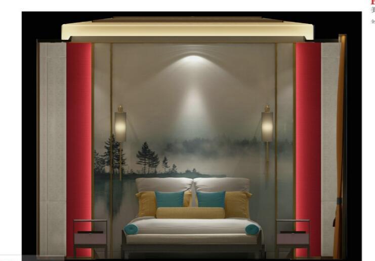 [佛山]知名设计新中式与现代简约别墅样板房设计施工图(含实景图_8