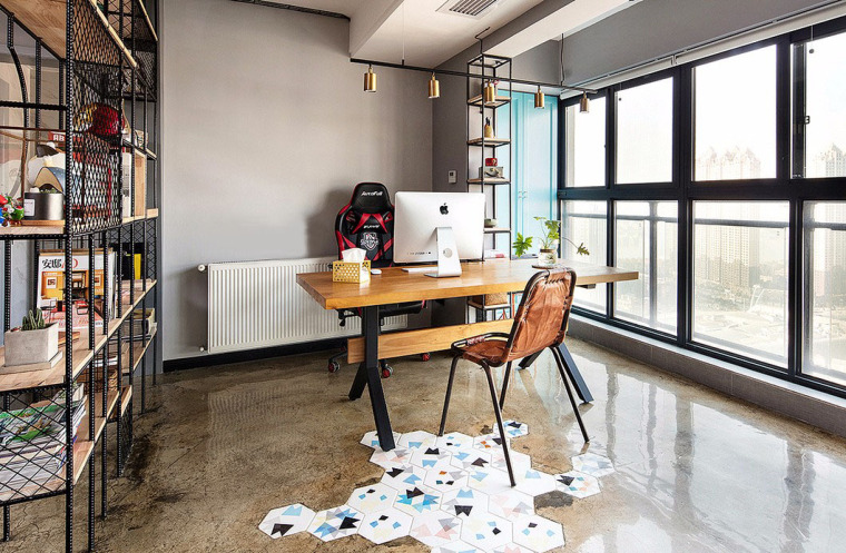 透着轻工业风格的办公空间-11