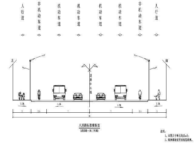 含25m预应力小箱梁桥市政道路施工图设计(给排水、交通照明绿化)