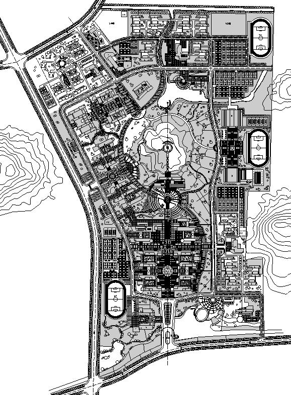 [合集]校园绿地景观规划设计CAD平面图41套-QQ截图20171018202834