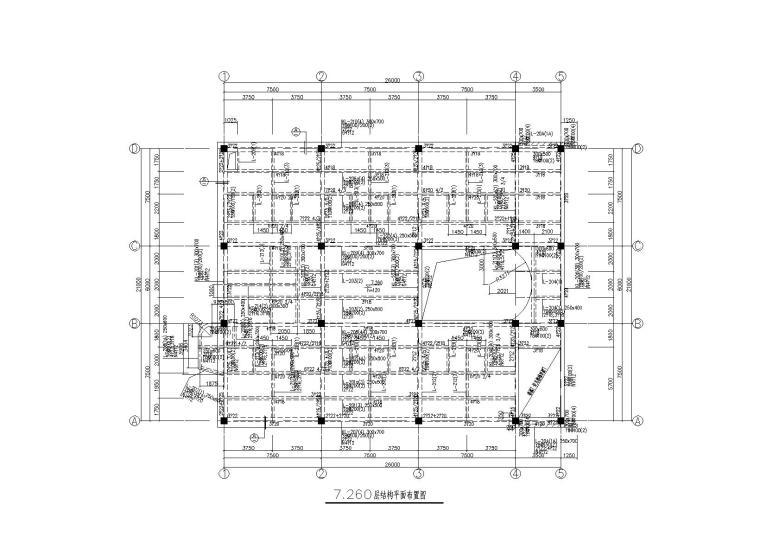 3层框架结构生物医学生产车间结构施工图201
