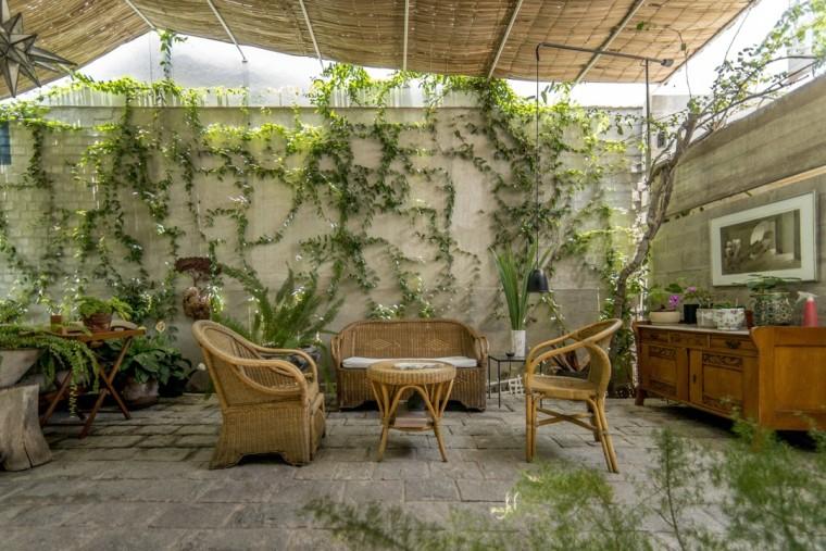 秘鲁住宅入口和露台景观