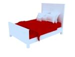 欧式单人床3D模型下载
