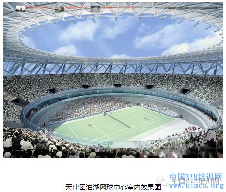 [BIM案例]天津团泊湖网球中心BIM应用