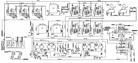某热电厂水处理车间工艺系统图