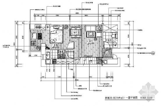 现代中式复式楼设计图下载