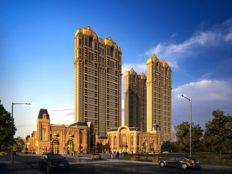 [河南]郑州金水万达项目欧式高层商住综合体设计文本(200+页PPT)