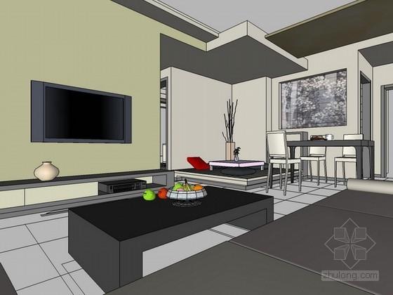 室内家居场景sketchup模型下载