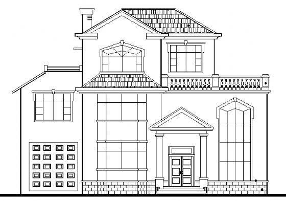 某3层别墅建筑图