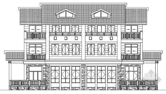 西湖某别墅建筑设计方案(2)