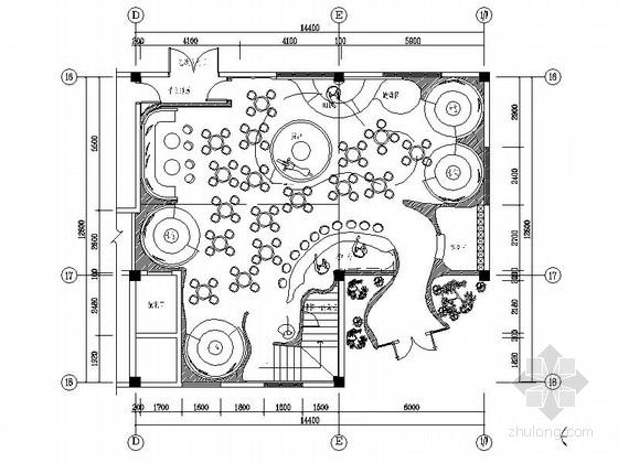 [无锡]现代奢华音乐酒吧装修CAD施工图(含效果图)