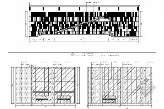 [江苏]省级重点实验中学艺术中心室内施工图 大厅立面图