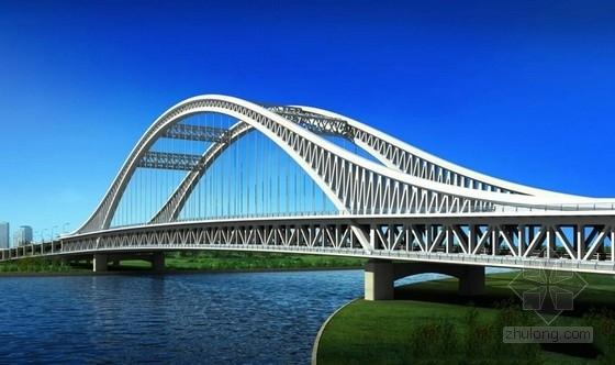 主跨180m特大型下承式钢结构系杆拱桥全套施工图(845张极其全面)