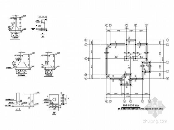 [江苏]地上三层框架结构小别墅结构施工图