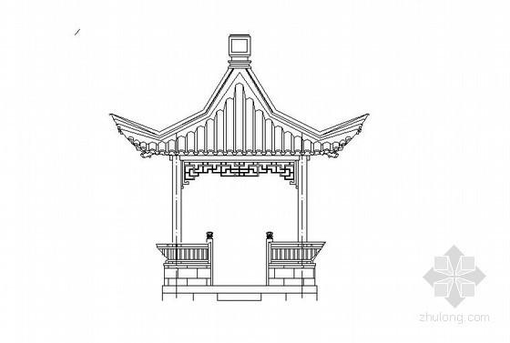 中式古建四角亭施工详图