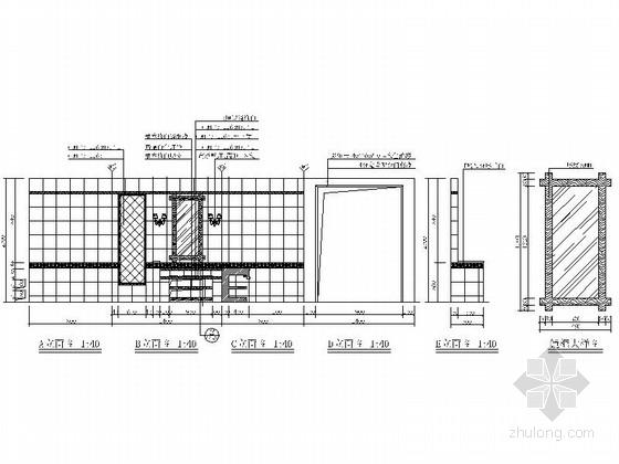 148平国际知名现代化企业陶瓷专卖店样板间设计装修图立面图