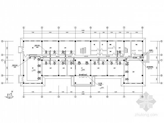 办公楼风冷热泵空调系统施工图
