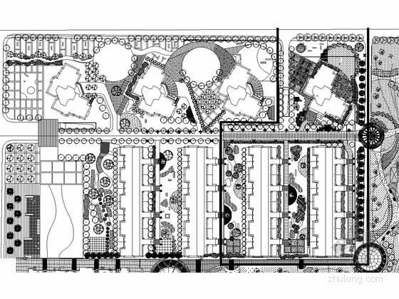 [内蒙古]国际商务休闲豪华酒店住宅景观施工图