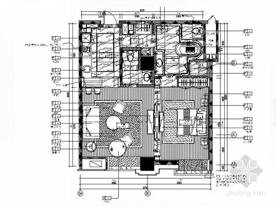 [北京]知名地产B6户欧式一居室样板间装修施工图