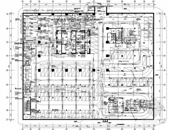 [无锡]超高层国际金融中心空调通风设计施工图纸(10万平 175米)