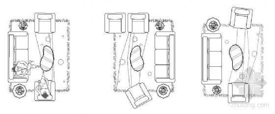 CAD平面图块