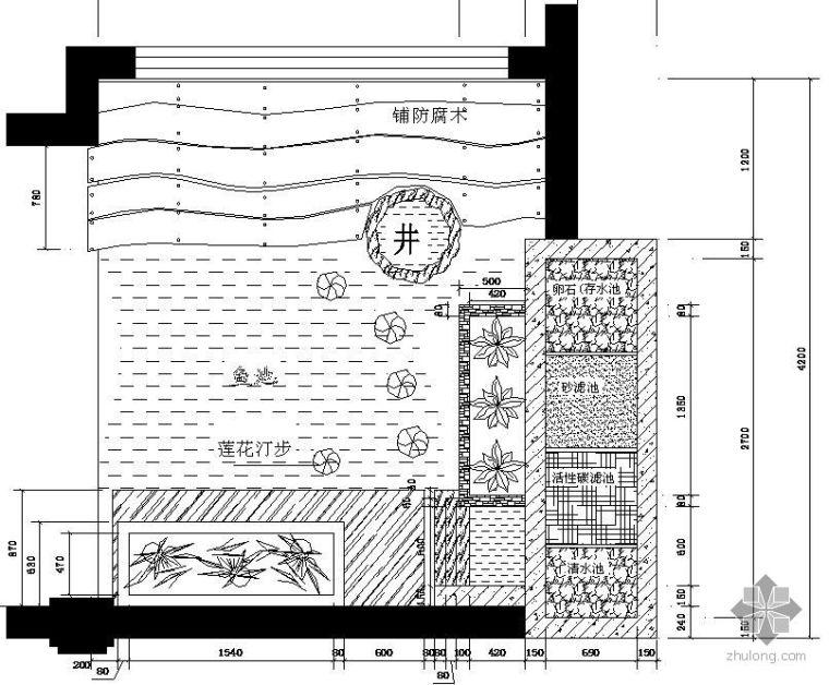 别墅水景施工套图