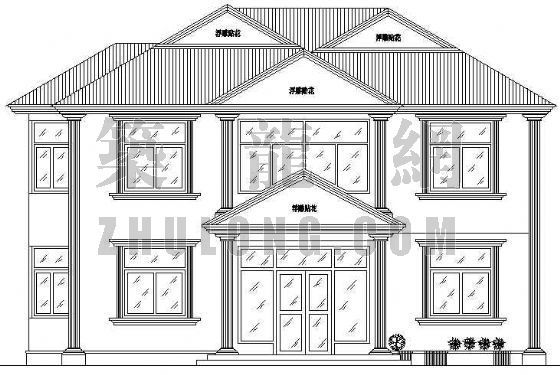 某豪华别墅图建筑、结构、给排水、电气施工图